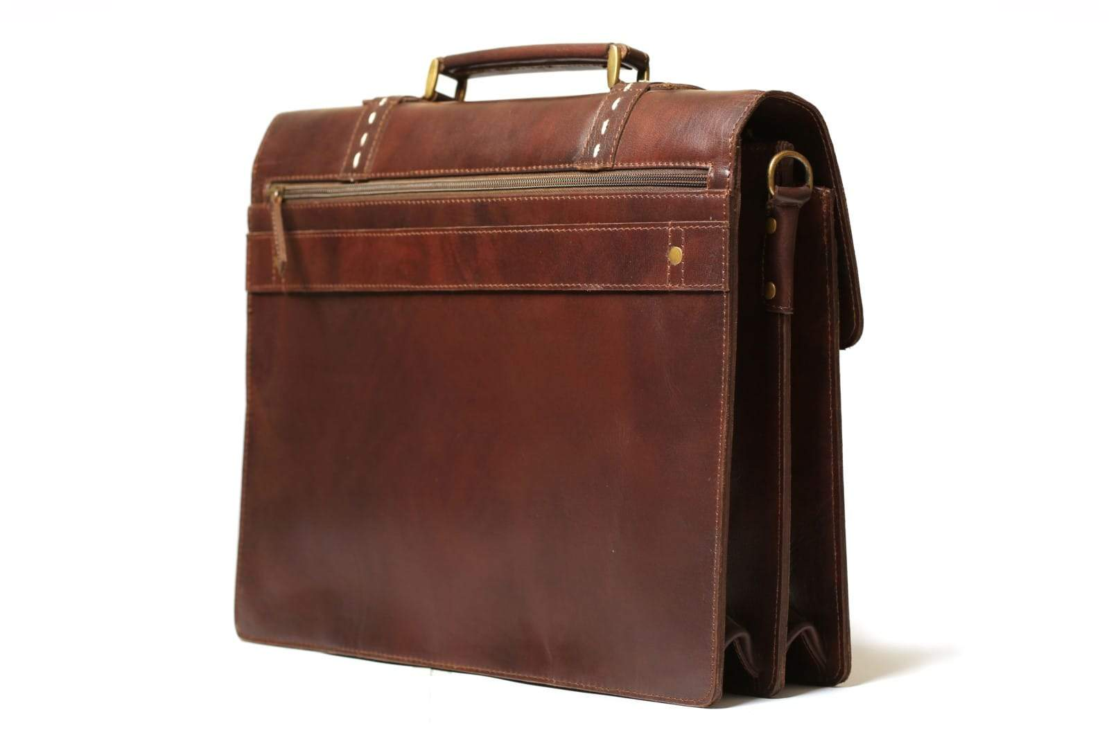 leather briefcase bag for office