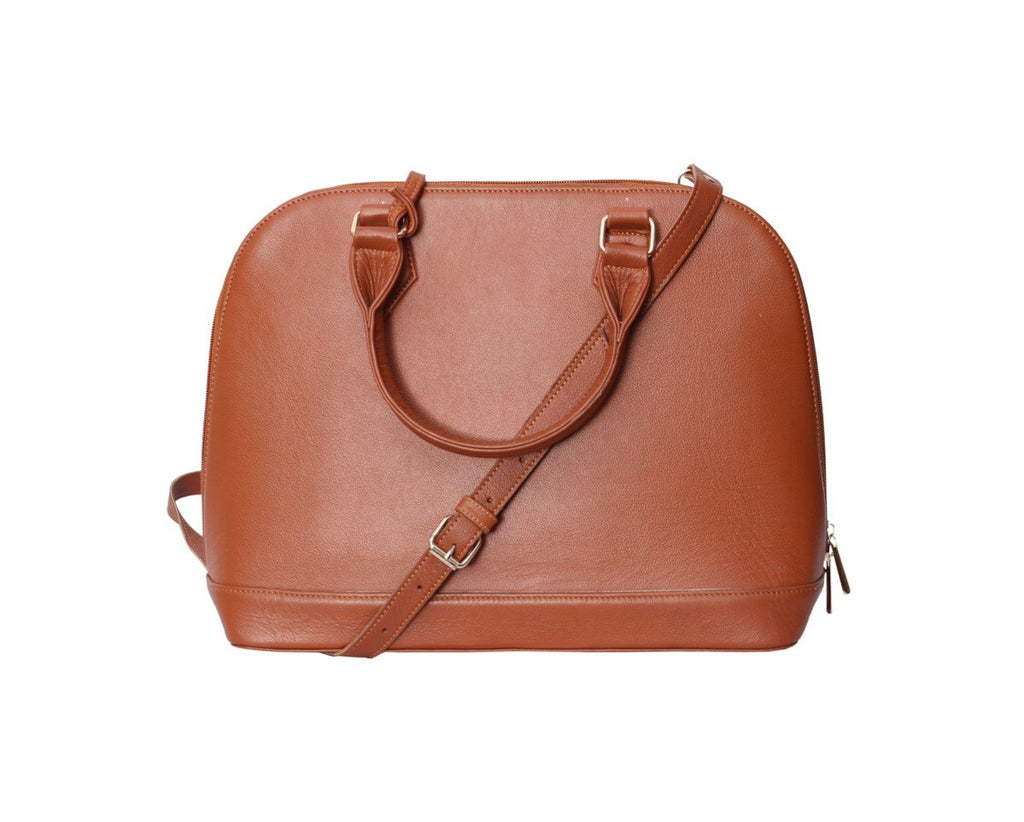 Round Zip tote 3.0 Camel-Brown