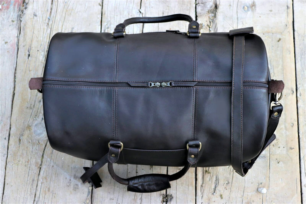 Traveler Leather Duffel bag - Dark Brown