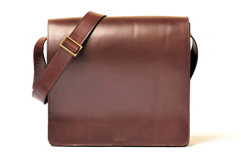 "Urban Modernizer 14"" leather laptop Messenger bag - Maroon"