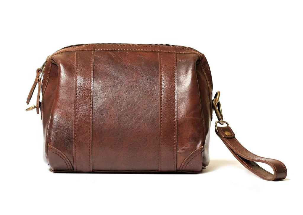 Rasage leather Toiletry kit - Antique Brown
