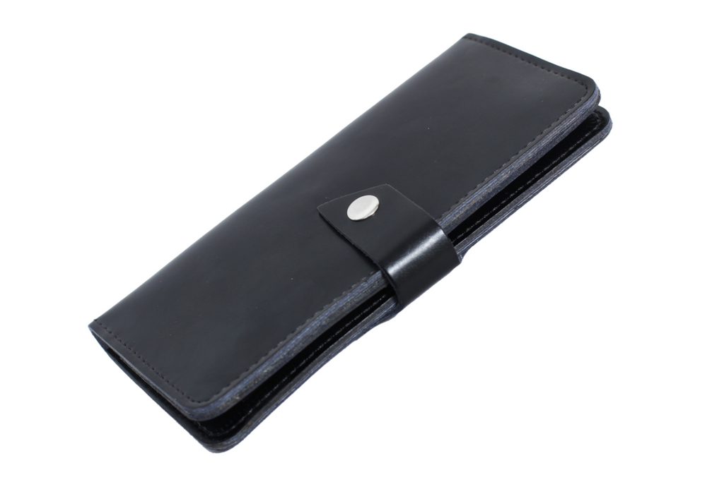 Bi-fold Leather Long Wallet