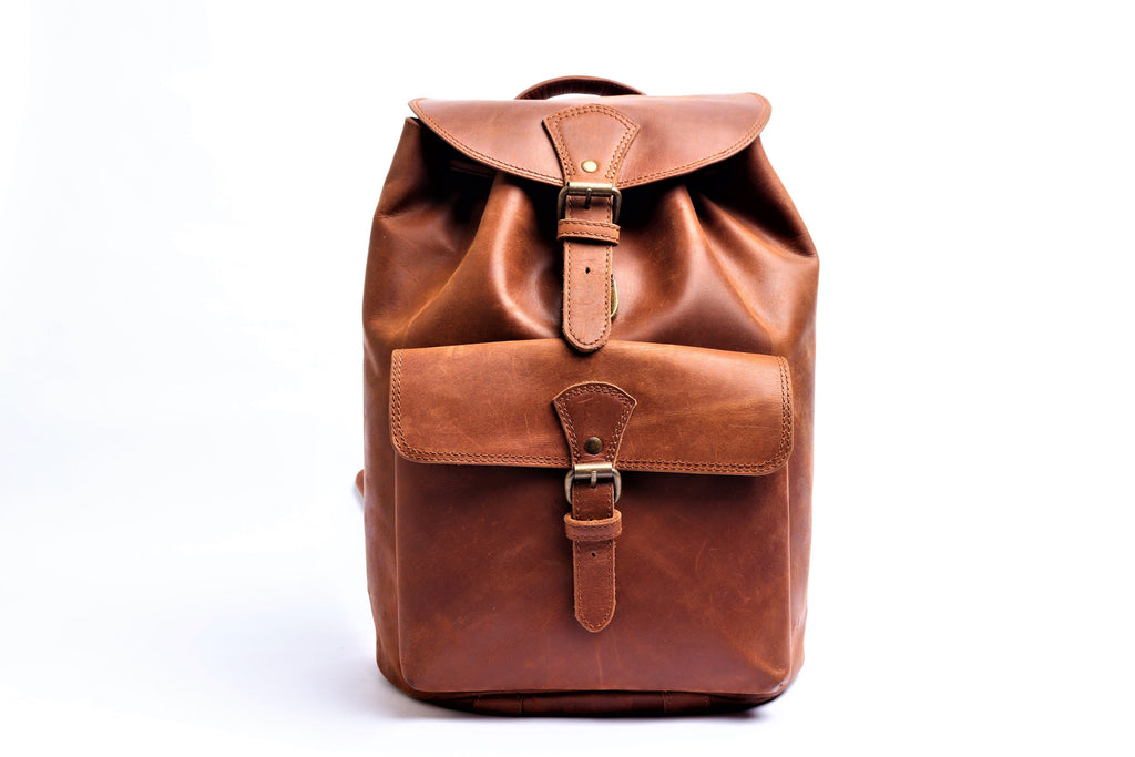 Leather Rucksack backpack – Distressed Brown
