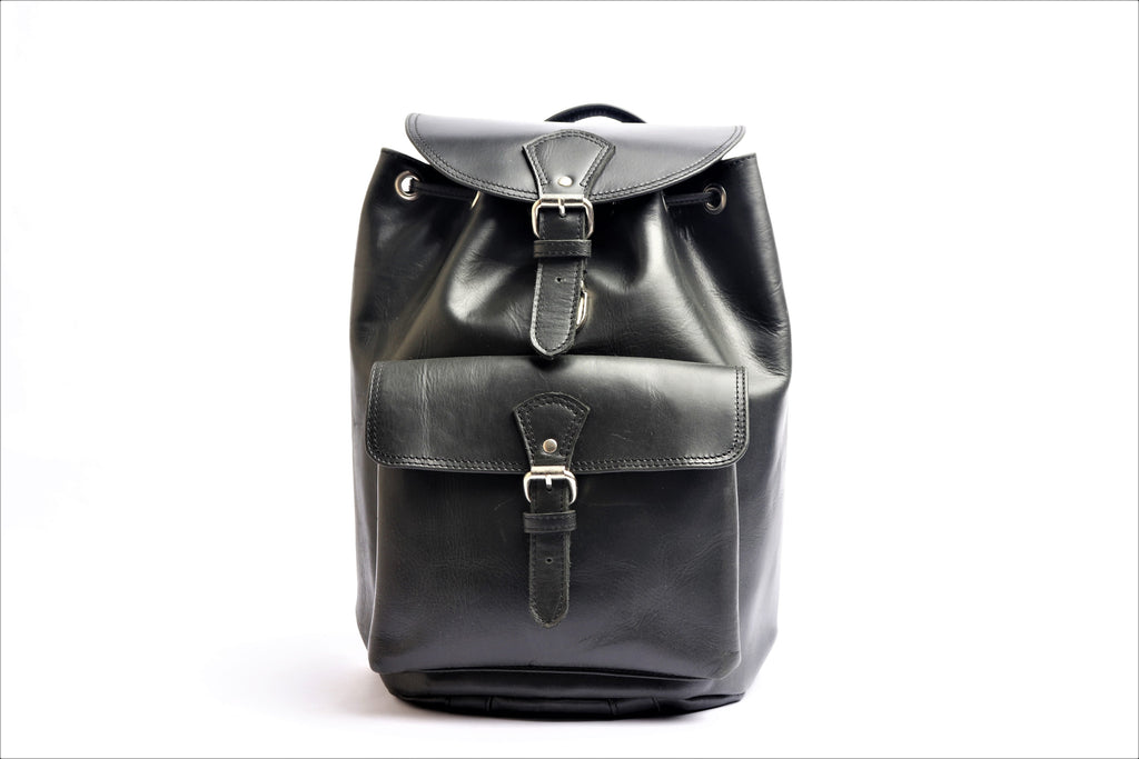 Leather Rucksack backpack – Black