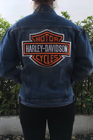 Harley Davidson Motor Cycles - Custom Denim Jacket