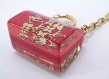 Load image into Gallery viewer, Louis Vuitton Key Charm Holder Inclusion Red Speedy Bag Motif