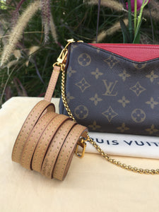 Louis Vuitton Pallas Red Clutch Crossbody Bag (GI4156)