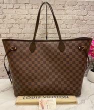 Load image into Gallery viewer, Louis Vuitton Neverfull GM Damier Ebene Red Tote (FL5103)