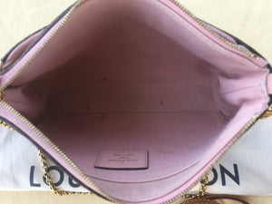 Louis Vuitton Pallas Pink Clutch Crossbody (GI1167)