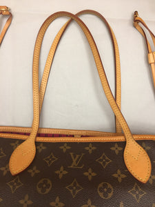 Louis Vuitton Neverfull GM Fuschia Monogram Shoulder Tote (TJ3114)