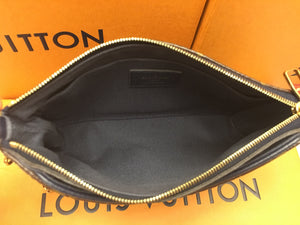 Louis Vuitton Pallas Clutch Navy Marine Blue Crossbody