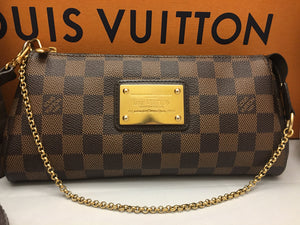 Louis Vuitton Eva Damiar Ebene Clutch Crossbody Bag (AA2100)