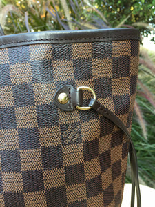 Louis Vuitton Neverfull MM Damier Ebene Canvas Tote (SF0155)