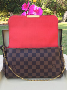 Louis Vuitton Favorite MM Damier Ebene Crossbody Bag (FL0185)