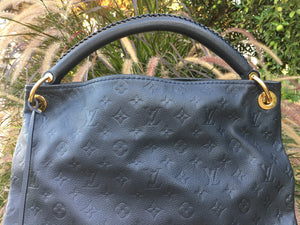 Louis Vuitton Artsy MM Empreinte Dark Navy Interior Hobo Shoulder Bag (TR0172)