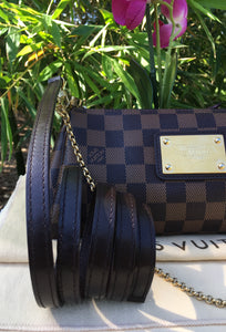 Louis Vuitton Eva Damiar Ebene Clutch Crossbody Bag (DU0162)
