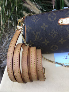 Louis Vuitton Eva Monogram Cutch Crossbody Bag (DU4101)