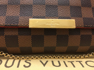 Louis Vuitton Favorite MM Damier Ebene Bag (DU0195)