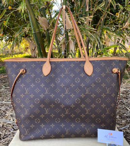 Louis Vuitton Neverfull GM Beige Monogram Tote (FL3190)