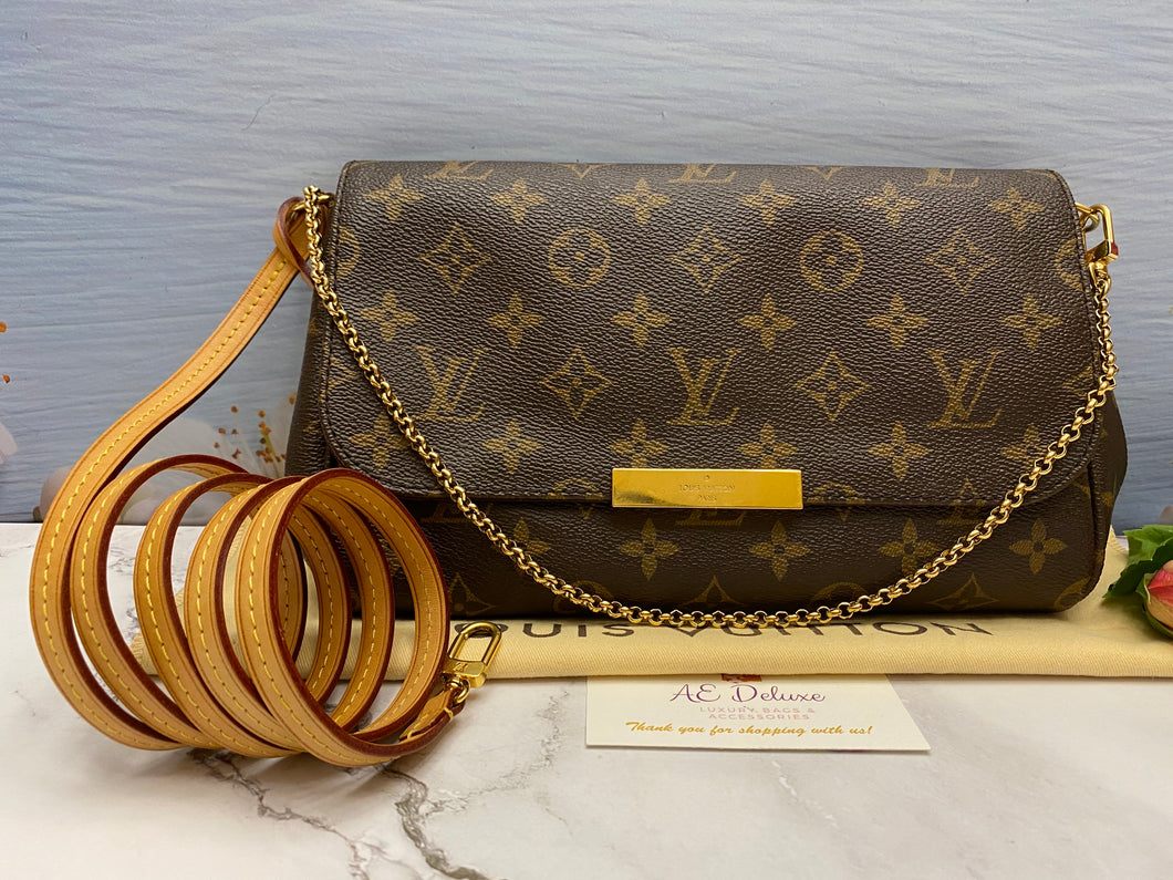 Louis Vuitton Favorite MM Monogram Bag (FL0194)