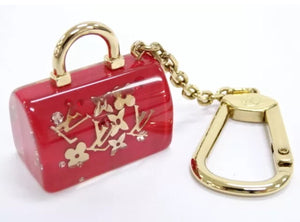 Louis Vuitton Key Charm Holder Inclusion Red Speedy Bag Motif