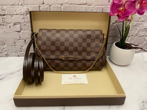 Louis Vuitton Favorite MM Damier Ebene Bag (FL2176)