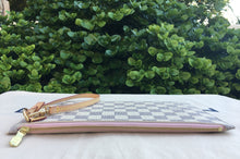 Load image into Gallery viewer, Louis Vuitton Neverfull MM/GM Damier Azur Rose Ballerine Wristlet