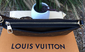 Louis Vuitton Pallas Noir/Black Clutch Chain Crossbody