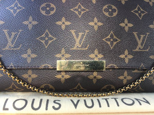 Louis Vuitton Favorite MM Monogram Crossbody Bag (SA1115)