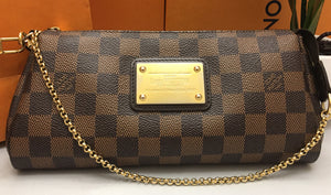Louis Vuitton Eva Damiar Ebene Clutch Crossbody Bag (AA1151)
