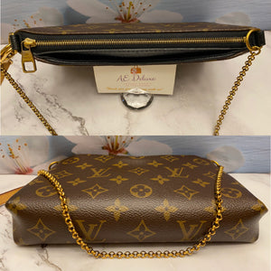 Louis Vuitton Pallas Noir Clutch Bag (CA0136)