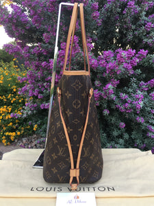 Louis Vuitton Neverfull MM Cherry Red Monogram Tote (AR1185)