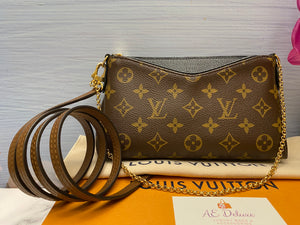 Louis Vuitton Pallas Noir/Black Clutch Bag (CA0178)