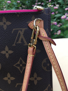 Louis Vuitton Neverfull MM/GM Pink Interior Wristlet