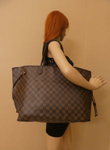 Louis Vuitton Neverfull GM Damier Ebene Red Tote (FL5103)