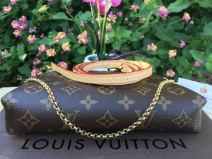 Louis Vuitton Pallas Navy Clutch Chain Crossbody