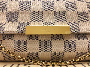 Louis Vuitton Favorite MM Damier Azur Crossbody Bag (FL1114)