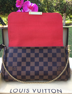 Louis Vuitton Favorite MM Damier Ebene Crossbody Bag (DU3164)