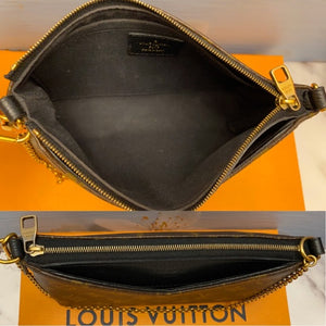 Pallas Noir Clutch Crossbody Bag (CA4195) + Box