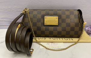 Louis Vuitton Eva Damier Ebene Clutch (AA2160)