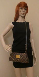 Louis Vuitton Eva Damiar Ebene Clutch Crossbody (DU0122)