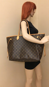 Louis Vuitton Neverfull GM Monogram Beige Tote (SD1170)