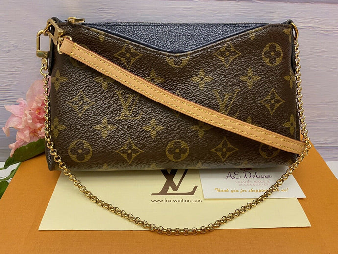 Louis Vuitton Pallas Marine/Navy Clutch (GI1127)