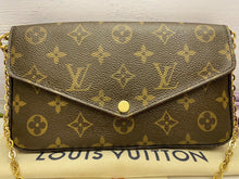 Load image into Gallery viewer, Louis Vuitton Felicie Monogram Fuchsia Clutch (MI1126)
