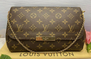 Louis Vuitton Favorite MM Monogram Clutch Purse (DU4125)