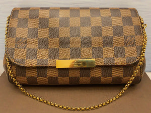 Louis Vuitton Favorite PM Damier Ebene Bag (SA3196)