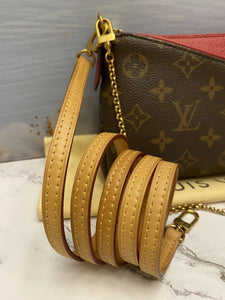 Louis Vuitton Pallas Cerise Red Clutch (CA5106)