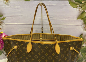 Louis Vuitton Neverfull GM Monogram Beige Tote Bag (FL1017)