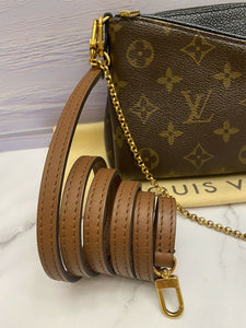 Louis Vuitton Pallas Noir/Black Chain Clutch (CA1106)