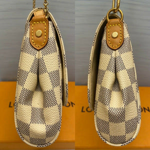 Louis Vuitton Favorite MM Damier Azur Clutch Bag (DU1127)